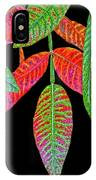 Hanging Green And Red Leafs... IPhone Case
