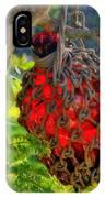 Hanging Red Bottle Garden Art IPhone Case