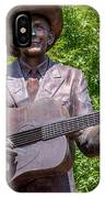Hank Williams Statue - Cropped IPhone Case