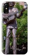 Hank Williams Statue - Montgomery Alabama IPhone Case