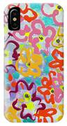 Happy Abstract Flowers IPhone Case