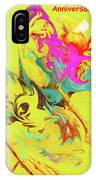 Happy Anniversary Abstract  IPhone Case