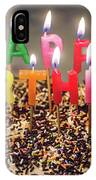 Happy Birthday Candles IPhone Case
