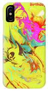 Happy Birthday Lilac Breasted Roller Abstract IPhone Case