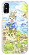 Happy Bunny Building Castle IPhone Case