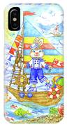 Happy Bunny On The Boat IPhone Case