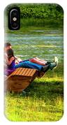 Young Family Enjoying The Swiss Country Side IPhone Case