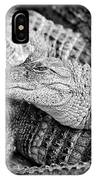 Happy Gator Black And White IPhone Case