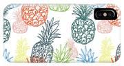 Happy Pineapple- Art By Linda Woods IPhone Case