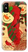 Happy Snowmen IPhone Case