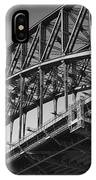 Harbor Bridge In Black And White IPhone Case by Yew Kwang