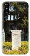 Harkness Garden Statue 1 IPhone Case