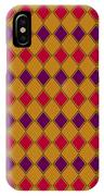 Harlequin Gold Purple Coral IPhone Case