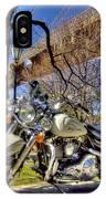 Harley Davidson And Brooklyn Bridge IPhone Case