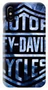 Harley Davidson Logo Blue IPhone Case