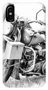 Harley Davidson Military Motorcycle Bw IPhone Case