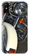 Harley Frontal In White IPhone Case