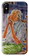 Harmonica Player And A Howler IPhone Case