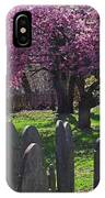 Harris Street Cemetery Cherry Blossom Tree Marblehead Ma 2 IPhone Case