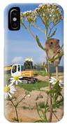 Harvest Mouse And Backhoe IPhone Case