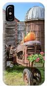 Harvest Time Vintage Farm With Pumpkins IPhone Case