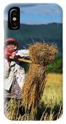 Harvesting Bundles Of Rice IPhone Case
