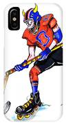 Hat Trick Hockey Player IPhone Case