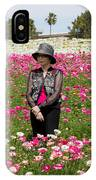 Hatted Lady In A Field IPhone Case