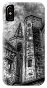 Haunted Church In Black And White IPhone Case