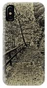 Havana Pathway In Sepia IPhone Case by William Norton
