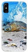 Hawaiian Green Turtle Honu IPhone Case