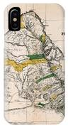 Hawaiian  Islands Map 1881 IPhone Case