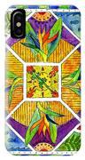 Hawaiian Mandala II - Bird Of Paradise IPhone Case