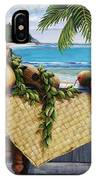 Hawaiian Still Life With Haleiwa On My Mind IPhone Case
