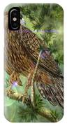Hawk In The Evergreens IPhone Case by Darren Cannell