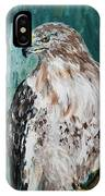 Hawk IPhone Case by Maria Langgle