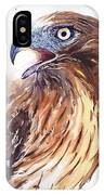 Hawk Watercolor IPhone Case