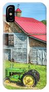 Hayesville Barn And Tractor IPhone Case