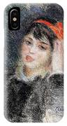 Head Of A Young Woman - 1878 -1880 Pierre-auguste Renoir IPhone Case