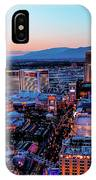 Heading North On The Strip IPhone Case