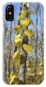 Heart Shaped Leaves Wrapped Around A Tree IPhone Case