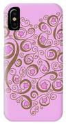 Heart With Pink Flowers And Swirls IPhone Case