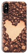 Hearts And Chocolate Drops. Valentines Background IPhone Case