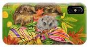 Hedgehogs Inside Scarf IPhone Case