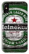 Heineken Beer Wood Sign 2 IPhone Case