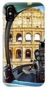 Helicopter On Colosseo IPhone Case