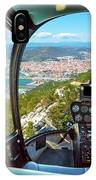 Helicopter On Gibraltar Rock IPhone Case