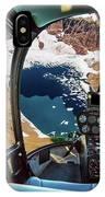 Helicopter On Glacier National Park IPhone Case