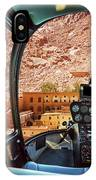 Helicopter On Monastery Of St Catherine IPhone Case