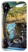 Helicopter On Tasman Arch IPhone Case